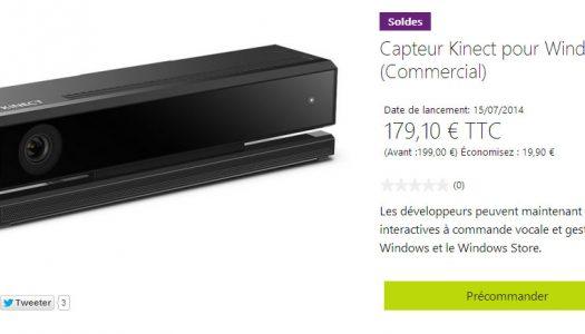 Le capteur Kinect 2 pour Windows est disponible en pré-commande à 179€