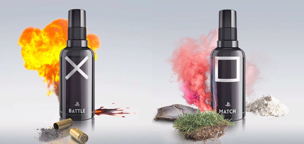Les parfums « Battle » et « Match » , par Playstation.