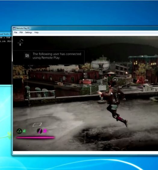 Remote Play PS4 on PC infamous first light