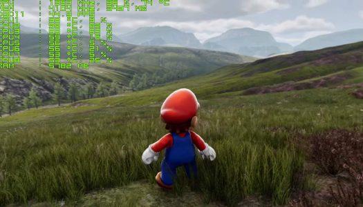 L'étonnant mélange de Super Mario avec la démo de l'Unreal Engine 4 !
