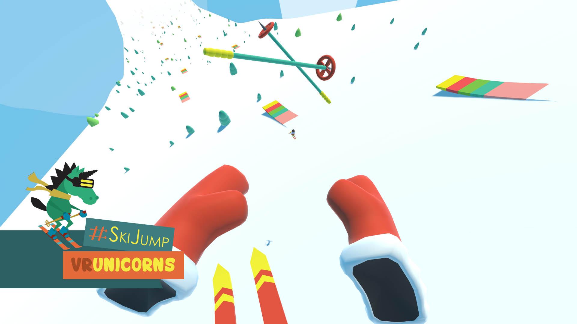 L'univers simpliste et coloré est très réussi et cohérent avec le côté WTF du jeu !