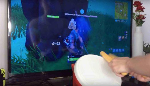 Insolite : Il joue à Fortnite sur Switch avec un tambour Taiko no Tatsujin